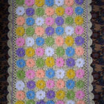 Crochet Blanket Granny Square Ribbon