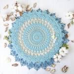 Giant Crochet Rug with a Seashell Shape