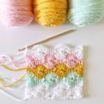 Sunset Orchid Crochet Shawl