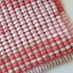 Crochet Herringbone Half Mixed Stripes Throw