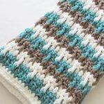 Crochet Ribbed Diamond Blanket